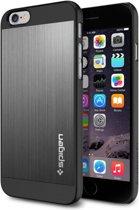 Spigen Aluminum Fit voor Apple iPhone 6 Back Cover - Grijs