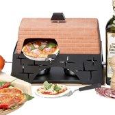 Fritel PizzaJolo 130110 - Mini pizzaoven - 2 Personen
