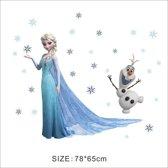 Complete Frozen Muur Decoratie Stickersset 78x65 cm