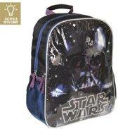Schoolrugzak met Ledlicht Star Wars 945