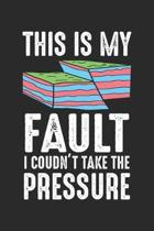 This is my fault: Funny Geology Pun ruled Notebook 6x9 Inches - 120 lined pages for notes, drawings, formulas - Organizer writing book p