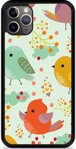 iPhone 11 Pro Max Hardcase hoesje Cute Birds