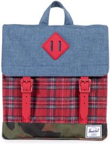 f6c5eb3bab9 Herschel Supply Co. Survey - Kinderen - Rugzak - Navy Crosshatch / Red  Plaid / Woodland Camo / Red Rubber