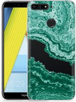Honor 7A Hoesje Turquoise Marble Art