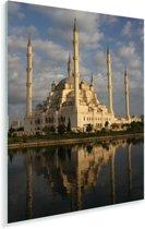 Ochtendlicht beschijnt de wondermooie Sabanci Moskee in Turkije Plexiglas 60x90 cm - Foto print op Glas (Plexiglas wanddecoratie)