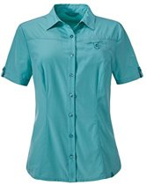 SCHOFFEL BLOUSE MENDOZA UV WOMEN - VIRIDIAN GREEN-42