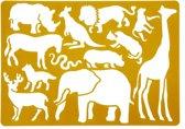 Teken sjabloon wilde dieren