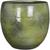 Mica Decorations - ingmar pot groen glanzend - maat in cm: 27 x 27