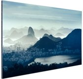 Guanabara baai Rio de Janeiro Aluminium 60x40 cm - Foto print op Aluminium (metaal wanddecoratie)