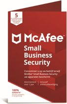McAfee Small Business Security 5 Apparaten - 1 Jaar - Windows / Mac / Android / iOS