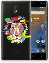 Nokia 3 Uniek TPU Hoesje Lion Color