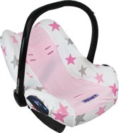Dooky Seat Cover - Pink / Pink Stars