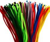 Chenille draad, dikte 6 mm, l: 45 cm, kleuren assorti, 200assorti