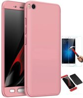 Teleplus Xiaomi Mi 5 S 360 Full Protected Cover Rose Gold + Glass Screen Protector
