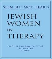 Jewish Women in Therapy