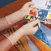 Norco - Oedeemhandschoen hele vinger over de pols - XS links