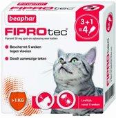 Beaphar fiprotec kat tegen vlooien & teken 3+1