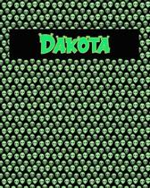120 Page Handwriting Practice Book with Green Alien Cover Dakota