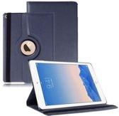 iPad Air 2 Hoes Cover Multi-stand Case 360 graden draaibare Beschermhoes donker blauw