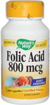 Folic Acid 800mcg Nature's Way 100caps