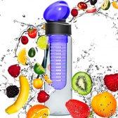 #DoYourFitness - Fruitwater fles - »FruitExplosion« - Fruit infuser voor fruitpunches / groente spritzers - 700ml - blauw