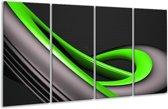 Glasschilderij Modern | Groen, Grijs, Zwart | 160x80cm 4Luik | Foto print op Glas |  F004314