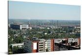 Uitzicht vanuit de lucht van het Russische Volgograd Aluminium 180x120 cm - Foto print op Aluminium (metaal wanddecoratie) XXL / Groot formaat!