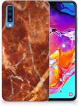 Samsung Galaxy A70 TPU Siliconen Hoesje Design Marmer Bruin