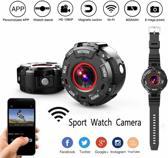 DrPhone Smart Sportwatch Action Cam – Actie Camera – IP68 Waterdicht / Waterproof – HD 1080P – Wifi – Mini Helm – Cam Recorder – Magnetisch – Duikcamera – Nachtzicht / Nightvision – DVR Camcorder – Auto / Motor / Fiets Camera – Polsband + Accessoires