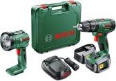 Bosch groen psb 1800 li-2 accuklopboormachine met lamp en 2 accu's