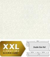 Uni kleuren behang EDEM 9011-30 vliesbehang gestempeld in spachtelputz look glimmend crème wit licht ivoorkleurig 10,65 m2