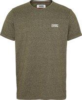 Tommy Hilfiger T-shirt Regular Fit Gemeleerd Army Groen (DM0DM04559 - LEX)