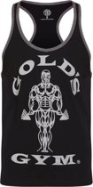 GGVST004 Muscle Joe Contrast Vest - Black/Grey Marl - XL