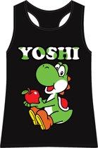 """Nintendo - Dames Top Zwart """"Yoshi"""" Maat M"""