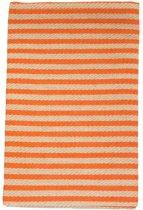 Sauna zitdoek - zomerstrepen, oranje, 50x150 cm