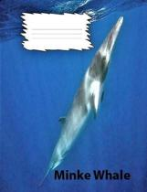 Minke Whale Wide Ruled Line Paper Composition Book