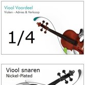 1/4 Viool Snaren Set - Nickel Plated