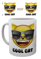 Emoji Cool Cat - Mok