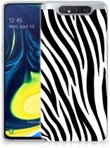 Samsung Galaxy A80 TPU Siliconen Hoesje Zebra