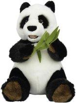 Nicotoy Zittende Panda met Bamboo - Knuffel - 25 cm