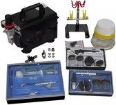vidaXL - 140286 Compressor - Airbrush set met 3 spuitpistolen