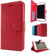 Rood Wallet / Book Case / Boekhoesje Samsung Galaxy A5 (2017) SM-A520 met vakje voor pasjes, geld en fotovakje
