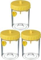 3x Wespenvangers/wespenvallen geel 14 cm - Insectenvangers/insectenvallen - Insectenbestrijding