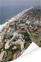 Indrukwekkende luchtfoto van Durban Poster 120x180 cm - Foto print op Poster (wanddecoratie woonkamer / slaapkamer) XXL / Groot formaat!