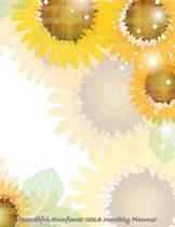 Beautiful Sunflower 2016 Monthly Planner