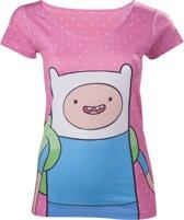 Adventure Time - Finn Dotted dames T-shirt multicolours - Merchandise televisie - L