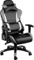 TecTake - bureaustoel Trinity premium racing style zwart grijs - 402292
