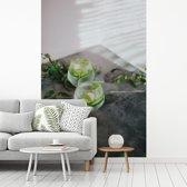 Fotobehang vinyl - Koud verfrissend glas gin tonic breedte 160 cm x hoogte 240 cm - Foto print op behang (in 7 formaten beschikbaar)