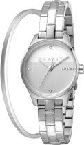 Esprit ES1L054M0055 Essential Glam horloge - Staal - Zilverkleurig - Ø  28