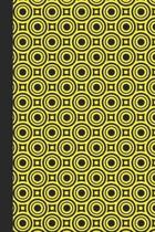 Sketch Journal: Geometric Design (Circles and Squares/Yellow) 6x9 - Pages are LINED ON THE BOTTOM THIRD with blank space on top
